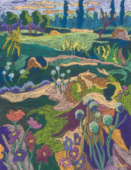Reprodução do quadro  July Terrain, 2008