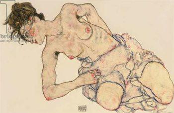 Reprodução do quadro  Kneider weiblicher halbakt, 1917