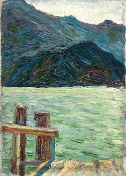 Reprodução do quadro  Kochelsee over the bay, 1902