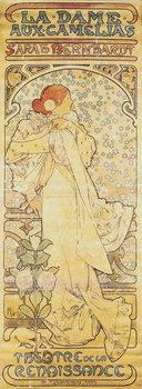 """Reprodução do quadro  """"La Dame aux Camélias"""", with Sarah Bernhardt, 1890-1910"""
