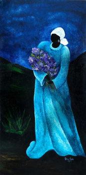 Reprodução do quadro  La Dame en Bleu, 2009