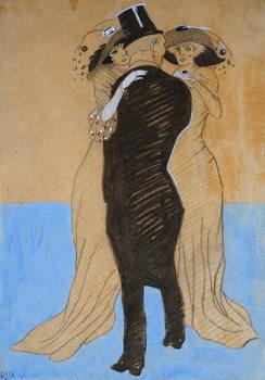 Reprodução do quadro La Flatterie, 1908
