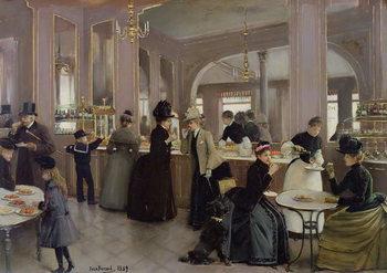 Reprodução do quadro  La Patisserie Gloppe, Champs Elysees, Paris, 1889