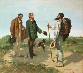 Reprodução do quadro  La Rencontre, or Bonjour Monsieur Courbet, 1854