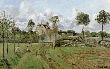 Reprodução do quadro  Landscape, Louveciennes, c.1872
