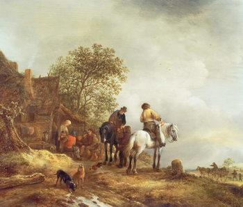Reprodução do quadro Landscape with Riders