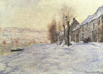 Reprodução do quadro  Lavacourt under Snow, c.1878-81