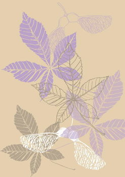 Reprodução do quadro Leaves, 2013
