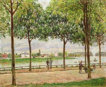 Reprodução do quadro  Les Promenade des Marronniers, St Cloud, 1878