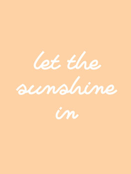 Ilustração let the sunshine in