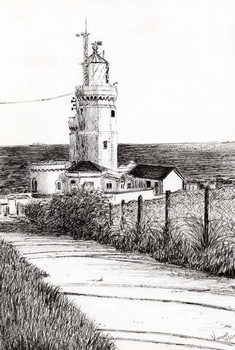 Reprodução do quadro  Lighthouse Isle of Wight, 2010,