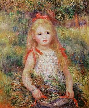 Reprodução do quadro Little Girl Carrying Flowers, or The Little Gleaner, 1888