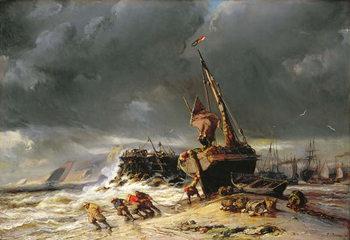 Reprodução do quadro  Low Tide, 1861