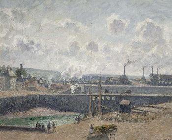 Reprodução do quadro  Low Tide at Duquesne Docks, Dieppe, 1902