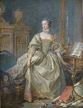Reprodução do quadro  Madame de Pompadour (1721-64)