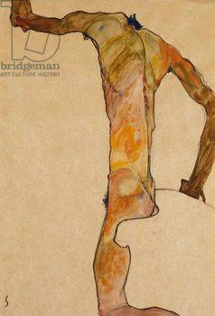 Reprodução do quadro  Male Nude; Mannlicher Akt, 1910