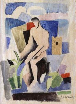 Reprodução do quadro Man in the Country, study for Paludes; Homme dans un Paysage, Etude pour Paludes, c.1920