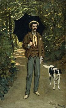 Reprodução do quadro  Man with an Umbrella, c.1868-69