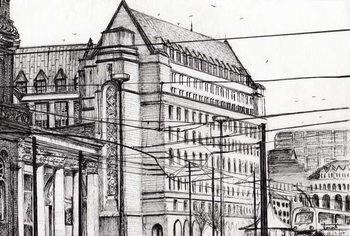 Reprodução do quadro Manchester Town Hall, 2007,