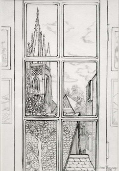 Reprodução do quadro  Marlow Church,2015