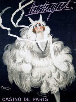 Reprodução do quadro Mistinguett (1872-1956) at Casino de Paris, 1920, poster illustrated by Leonetto Cappiello , France, 20th century