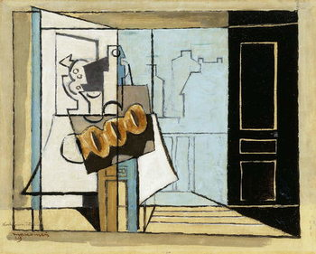 Reprodução do quadro Monday, the Open Window; Lundi, la Fenetre Ouverte, 1929
