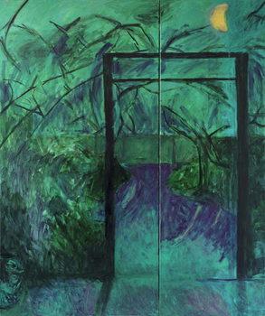 Reprodução do quadro  Moonlit Garden, 2014,