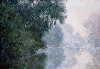 Reprodução do quadro  Morning on the Seine, Effect of Mist; Matinee sur la Seine, Effet de Brume, 1897