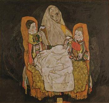 Reprodução do quadro  Mother with Two Children, 1915-17
