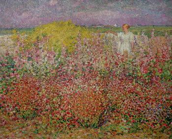 Reprodução do quadro  Mrs. Russell Amongst the Flowers at Belle Isle, 1927