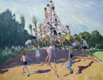 Reprodução do quadro Mundy Playground, Markeaton;Derby, 1990