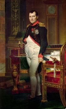 Reprodução do quadro Napoleon Bonaparte in his Study at the Tuileries, 1812