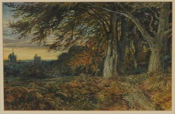 Reprodução do quadro  Naworth Castle, 1840-45