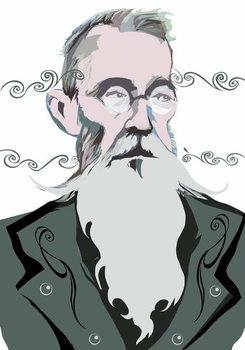 Reprodução do quadro Nikolai Rimsky-Korsakov Russian composer , colour 'graphic' version of file image, 2006/2010 by Neale Osborne