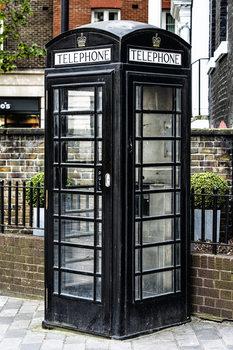 Arte Fotográfica Exclusiva Old Black Telephone Booth