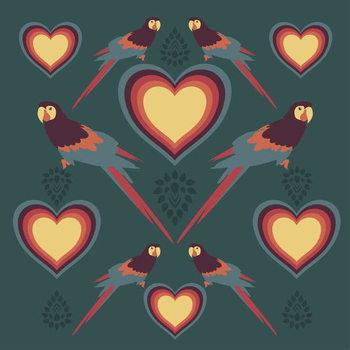 Reprodução do quadro Parrot Love