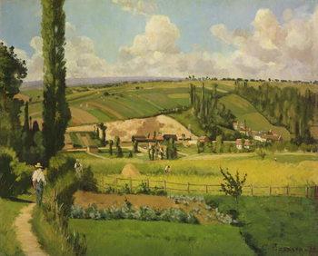 Reprodução do quadro  Paysage aux Patis, Pointoise, 1868