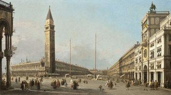 Reprodução do quadro  Piazza San Marco Looking South and West, 1763