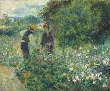 Reprodução do quadro Picking Flowers, 1875