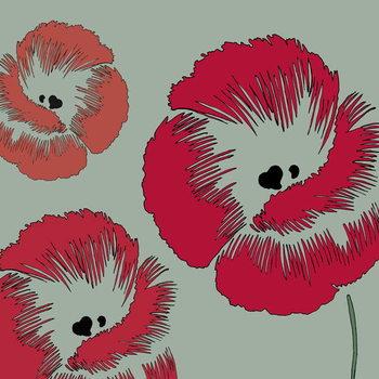 Reprodução do quadro Picnic Poppy, 2005