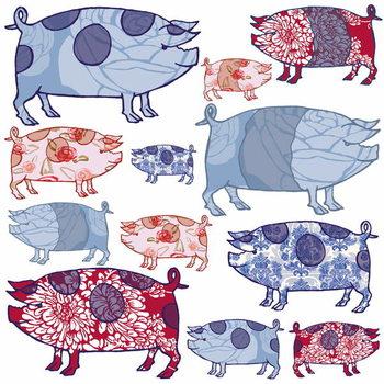 Reprodução do quadro Piggy in the Middle, 2005