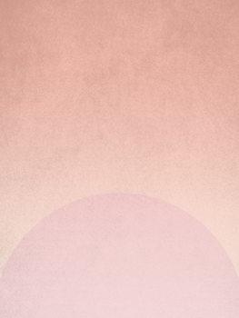 Ilustração planet pink sunrise