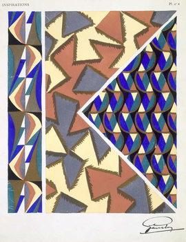 Reprodução do quadro Plate 4, from 'Inspirations', published Paris, 1930s