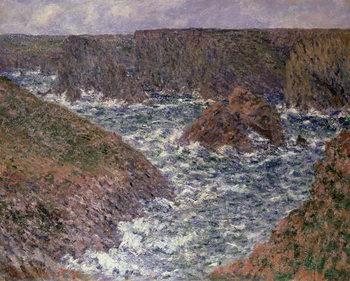 Reprodução do quadro  Port Domois at Belle Ile, 1886