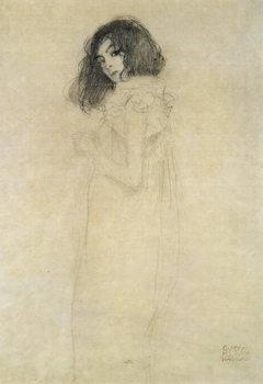 Reprodução do quadro Portrait of a young woman, 1896-97