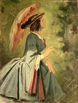 Reprodução do quadro Portrait of Anna, the artist's daughter, 1860