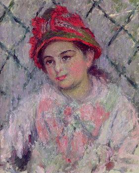 Reprodução do quadro  Portrait of Blanche Hoschede (1864-1947) as a Young Girl, c.1880