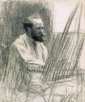 Reprodução do quadro  Portrait of Edouard Manet (1832-83) at his Easel