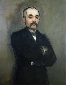 Reprodução do quadro  Portrait of Georges Clemenceau (1841-1929) 1879