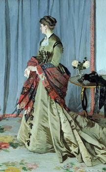 Reprodução do quadro  Portrait of Madame Louis Joachim Gaudibert, 1868